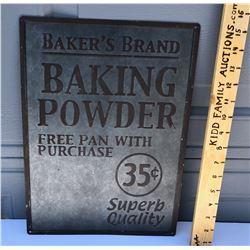 BAKER'S BRAND TIN SIGN