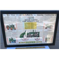 FRAMED OLIVER TRACTORS AD