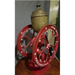 STAR MILL ANTIQUE NO 9 COUNTER TOP COFFEE GRINDER - PHILADELPHIA