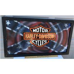 FRAMED HARLEY-DAVIDSON CARDBOARD POSTER