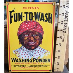 FUN-TO-WASH, SST SIGN, ANDE ROONEY INC - 1986 - BLACK AMERICANA AD