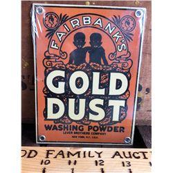FAIRBANKS GOLD DUST SST SIGN - BLACK AMERICANA AD