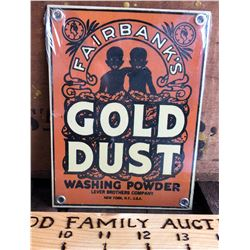 FAIRBANKS GOLD DUST SST SIGN - BLACK AMERICANA AD
