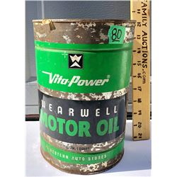 WESTERN AUTO STORES, MOTOR OIL 1 QT SIZE TIN