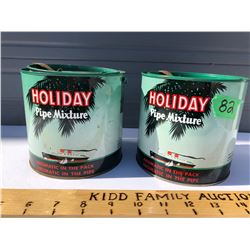 GR OF 2, HOLIDAY PIPE TOBACCO TINS