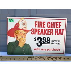 REPRO TEXACO FIRE CHIEF SST SIGN