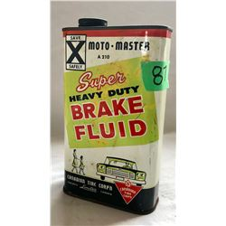 MOTO-MASTER BRAKE FLUID TIN - FULL