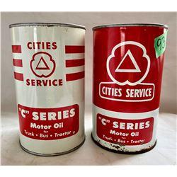 CITIES SERVICE 1 QT SIZE TINS