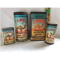 GR OF 4 CAMEL PATCH KITS - CARDBOARD