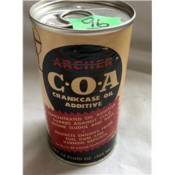ARCHER 12 OZ SIZE PAPER LABELED TIN - FULL