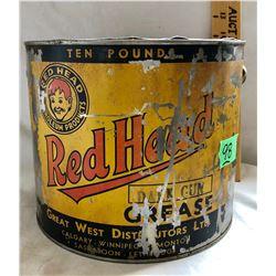 RED HEAD 10 LBS GREASE TIN