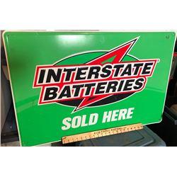 INTERSTATE BATTERIES TIN SIGN