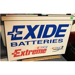 EXIDE BATTERIES NASCAR AD TIN SIGN