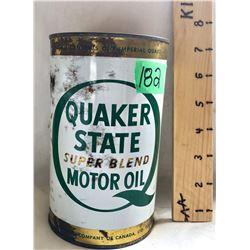 QUAKER STATE MOTOR OIL TIN - FULL