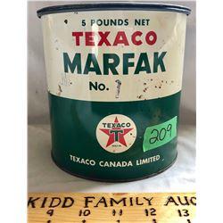 TEXACO MARFAK TIN - 5 LBS FULL