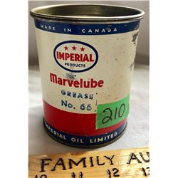 IMPERIAL OIL ONE POUND GREASE TIN - FULL