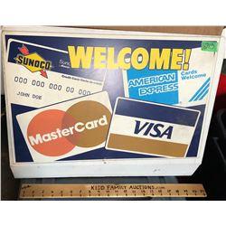 CREDIT CARD DST STORE DISPLAY FLANGE.