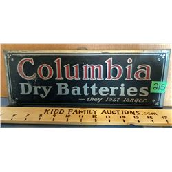 COLUMBIA BATTERIES STAND UP SST DISPLAY SIGN.