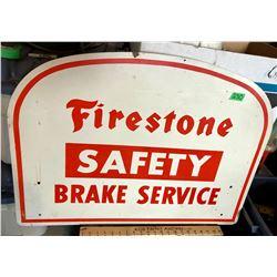 FIRESTONE PLASTIC FINISH ON PRESS-BOARD SIGN