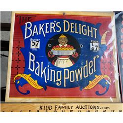 BAKERS DELIGHT EGGS / BUTTER PRICE ADVERTISING SIGN - BLACK AMERICAN ADVERTISING