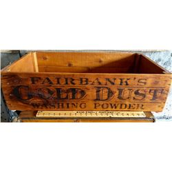 FAIRBANK'S GOLD DUST WASHING POWDER CRATE - BLACK AMERICANA ADVERTISING