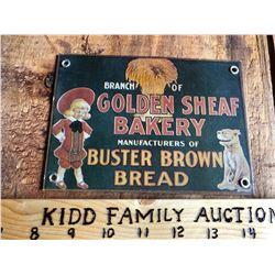 GOLDEN SHEAF BAKERY / BUSTER BROWN BREAD SST SIGN