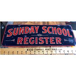 SUNDAY SCHOOL REGISTER SST SIGN