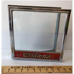 WESTON'S BAKERY GLASS CASE FRONT