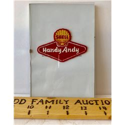 SHELL HANDY ANDY UNIFORM BADGE