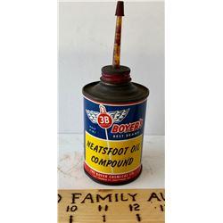 BOYER NEATSFOOT OIL COMPOUND TIN