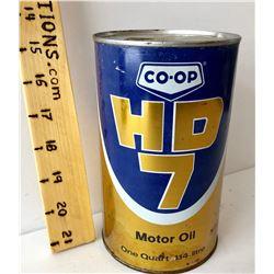CO-OP HD MOTOR OIL TIN - 1 QT SIZE