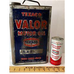 GR OF 2, TEXACO VALOR & DETERGENT TINS