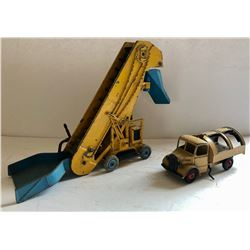 GR OF 2, DINKY TOY VEHICLES. ELEVATOR & FARM TRUCK