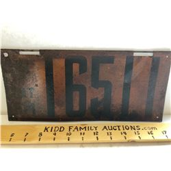 1914 ONTARIO LICENCE PLATE