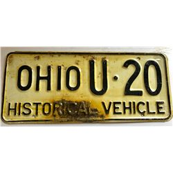 HISTORICAL LICENCE PLATE