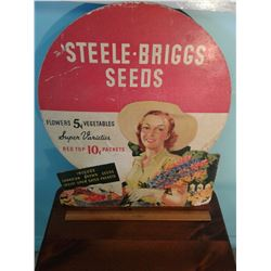 VINTAGE PRESS BOARD SEED SIGN