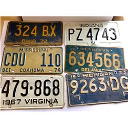 GR OF 18 DIFFERENT AMERICAN LICENCE PLATES