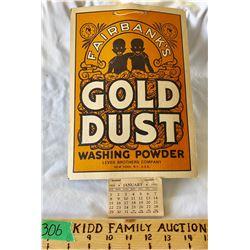 FAIRBANK'S GOLD DUST 1933 CALENDAR - FULL - BLACK AMERICANS ADVERTISING