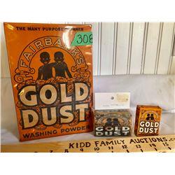 GR OF 3, FAIRBANK'S GOLD DUST WASHING POWDER & SOAP - BLACK AMERICANA ADVERTISING