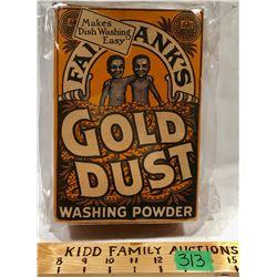 FAIRBANK'S GOLD DUST WASHING POWDER BOX - BLACK AMERICANA ADVERTISING