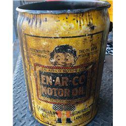 EN-AR-CO  MOTOR OIL GREASE PAIL