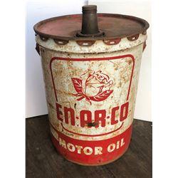 EN-AR-CO  MOTOR OIL PAIL