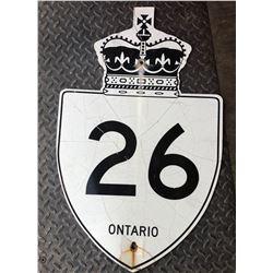 ROAD SIGN - HWY 26