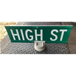 ROAD SIGN - HIGH STREET