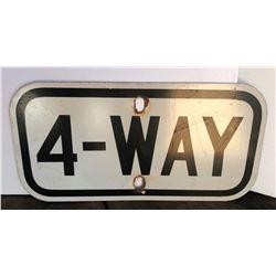 ROAD SIGN - 4 - WAY