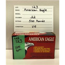 AMMO: 500 ROUNDS .22 - AMERICAN EAGLE