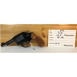 SMITH & WESSON, MODEL 12-2 AIRWEIGHT .38 SPL