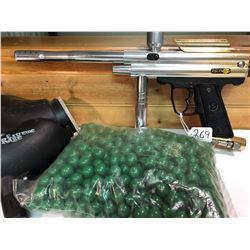 PIRANHA PAINT BALL GUN W / ACCESSORIES