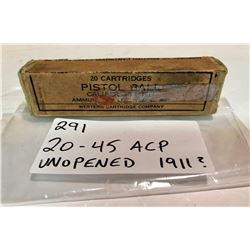 AMMO: 20 X .45 ACP - 1911 UNOPENED