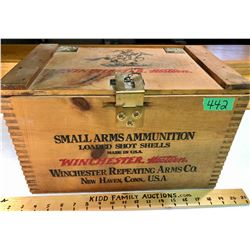 WINCHESTER. WESTERN. WOOD AMMO CRATE